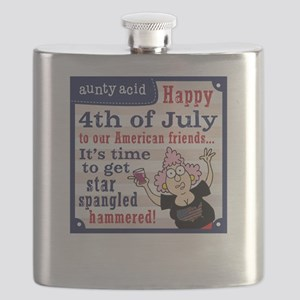 Aunty Acid: Star Spangled Hammered Flask